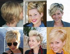 If I ever went back to a pixie I'd want to keep it longer at the crown for a little more versatility....  this is so cute