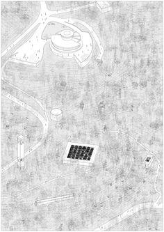 andrea siciliani, Mathias Lefebvre — Nature Obsevatory of Monsanto Architecture Student, Architecture Drawings, Architecture Portfolio, Landscape Architecture, Architecture Graphics, Axonometric Drawing, Isometric Drawing, Graduation Project, Landscape Drawings