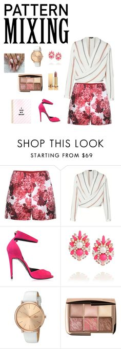 """Contest: Pattern Mixing"" by journedly ❤ liked on Polyvore featuring Moncler Gamme Rouge, Pierre Hardy, Shourouk, Lacoste, Yves Saint Laurent and patternmixing"