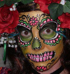 Dia de la muerta sugar skull…looks even cooler in face paint!