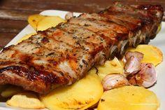 Costillas de cerdo adobadas al horno Barbecue Recipes, Pork Recipes, Mexican Food Recipes, Pork Brisket, Pork Ribs, My Favorite Food, Favorite Recipes, Enjoy Your Meal, Healthy Recepies