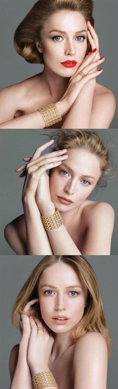 "Raquel Zimmerman for ""My Dior Jewelry"". Posing."
