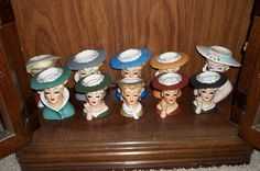 ladies head vases 4