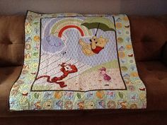 Winnie the Pooh Quilt by FabricatedQuilts on Etsy, $80.00