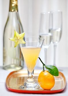 Easy Spiced Citrus Champagne Cocktail recipe: Like an amped up Mimosa.