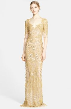 Naeem Khan Hand Beaded Gown available at #Nordstrom