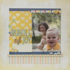 Bundle of joy, a fantastic layout from our Dear Lizzy Lucky Charm Collection