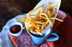 Make French fries at home with this recipe.