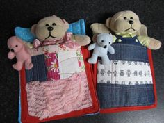 Sleeping bags for Oliver and Lucys beanie kids