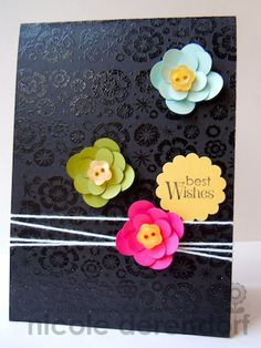 embossing with flowers and twine