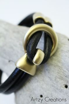 Leather DIY bracelet!:)