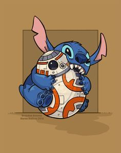 Chew Toy by khallion.deviantart.com on @DeviantArt - Star Wars - BB8 - Stitch - Disney