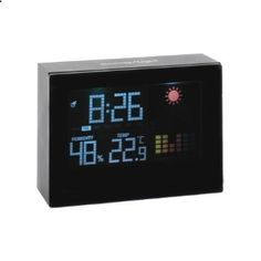 Rain or shine? Find out in a flash with this desktop weather station! With temperature and humidity readouts and a fully functioning alarm clock, this marvelous multi-tasker is the hub of any household. 12 or 24 hour time disp