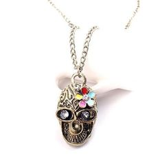 $1.14,  New Fashion Hot-Selling New Arrival Korean Charm Rhinestone Skull Headband Flowers Necklaces