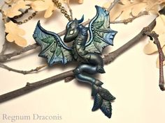 Forest Dragon Necklace by RegnumLaternis