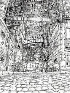 Architectural sketches 652740539722695952 - L'iconoclaste Source by fionabillingslea Art Sketches, Art Drawings, Perspective Art, Perspective Photography, City Drawing, Arte Cyberpunk, Environment Concept Art, Urban Sketching, Environmental Art