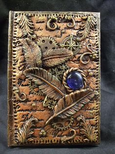 Steampunk Journal A6 by ReevarooCreations on Etsy