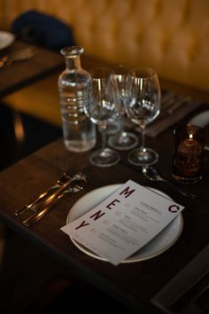 Menu designed for Winemakers Dinner arranged by Tenuta Carretta, Flaaten Wines and Dilla Holding at Cargo Restaurant & Bar, located in Oslo, Norway. Menu Design, Dinner Menu, Oslo, Restaurant Bar, Wines, Norway, Table Settings, Branding, Graphic Design