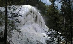 Carbonate fall from hydrotermal source. Tuscany, Italy.