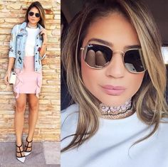 Dia em tons leves  Look da @thassianaves para se inspirar  #rayban #envyotica #modasolar #thassiastyle #thassianaves #ootd #lookdodia #dior #valentino #valentinoshoes #diorbag