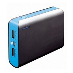 Power Bank with Flashlight PLATINET PMPB6BBL 6000 mAh 2 x USB 1 A / 2.1 A 5 V Blue