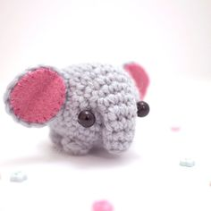 amigurumi elephant plush toy - cute elephant decor