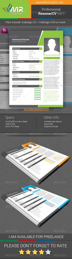 The #CV - #Resumes #Stationery Download here   graphicriver