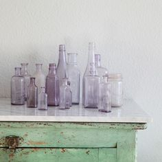 Get inspired by nature...lilacs did so with these purple tinted glass bottles.