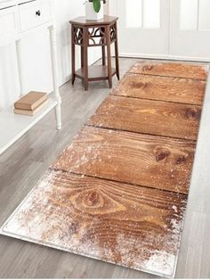 Photo Gallery - Snow Wood Grain Printed Home Decor Area Rug Trendy Colors, Vivid Colors, Cheap Rugs, Bath Rugs, Home Collections, Rug Runner, Wood Grain, Carpet, Room Decor