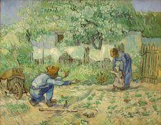 primi passi (da Millet), gennaio 1890. Olio su tela, 72.4 x 91.1 cm. The Metropolitan Museum of Art, New York.
