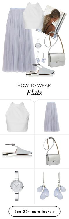 """Elise"" by laash85 on Polyvore featuring Needle & Thread, Movado, Barneys New York, Ten Thousand Things and Kate Sheridan"