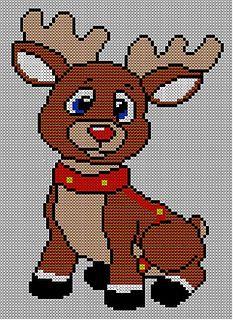 Christmas Baby Rudolph Reindeer Jumper / Sweater Knitting Pattern.