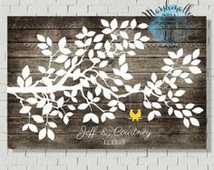 Wedding Guest Book Tree Print Alternative by MarshmallowInkLLC