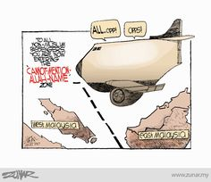 "#kartunzunar: ""Cannot-mention-Allah-name"" zone #allah #malaysia #politicalcartoon http://wp.me/p3l0XP-o4"