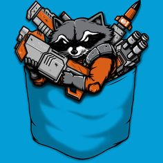 Pocket Battle Raccoon is a T Shirt designed by pigboom to illustrate your life and is available at Design By Humans