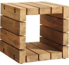 Reclaimed Teak Side Table: TK-264 - traditional - outdoor tables - san francisco - McGuire Furniture Company