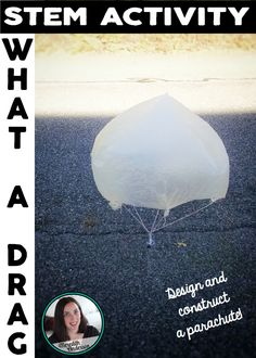 STEM activity - explore drag with parachutes! Follow the engineering design process with 10 STEM challenges! $
