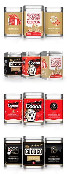 HMSDesign Holiday Cocoa - My best design list Beverage Packaging, Coffee Packaging, Food Packaging, Brand Packaging, Design Packaging, Chocolate Diy, Chocolate Packaging, Pretty Packaging, Packaging Design Inspiration
