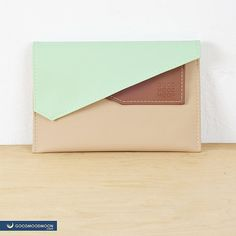 Colourful mini clutch Johnny Seven with two sections on the magnets. Made of soft beautiful vegan eco leather. Clutch can be used as case for Ipad