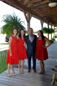 Mix and match bridesmaid dresses by @eshakti @oakhollowfarm #oakhollowfarm