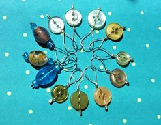 Stitch Markers I made for a knitting swap.