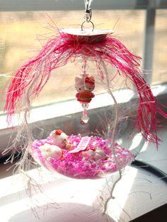 Hello Kitty glass globe ball keepsake room decoration by WildKards, $25.00