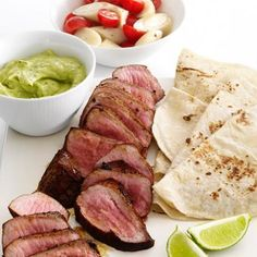 Steak with Avocado Sauce and Tomato Salad Recipe #healthy #dinner #recipes