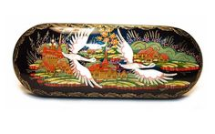 $22.00 Handpainted Lacquered Palekh Spectacle Case http://catalog.obitel-minsk.com/plh-08-1-2-futljar-dlja-ochkov-paleh.html #delivery #worldwide #order #handmade #souvenir #Christmas #shipping #online #buy #gift #present #crafts #quality #spectacle #glasses #case