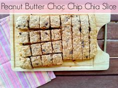 How delicious does this look!!?  Peanut Butter Choc Chip Chia Slice  Thanks @octaviaandvicky