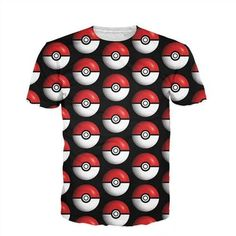 Raisevern New Summer Style T Shirt 3D Pokemon Pokeball All-over Printed T-shirt Fashion Cartoon Tee Top For Men Women Dropship