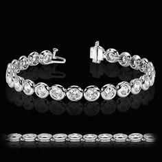 Full Bezel Tennis Bracelet | http://miaco.us/fullbezeltennis