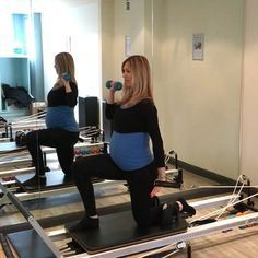New little upper body exercise! Really have to work hard to stabilize. I use either a white or blue spring.