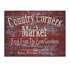 Country Corners Market Canvas Art Print-how fun