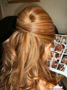 Criss cross retro hair